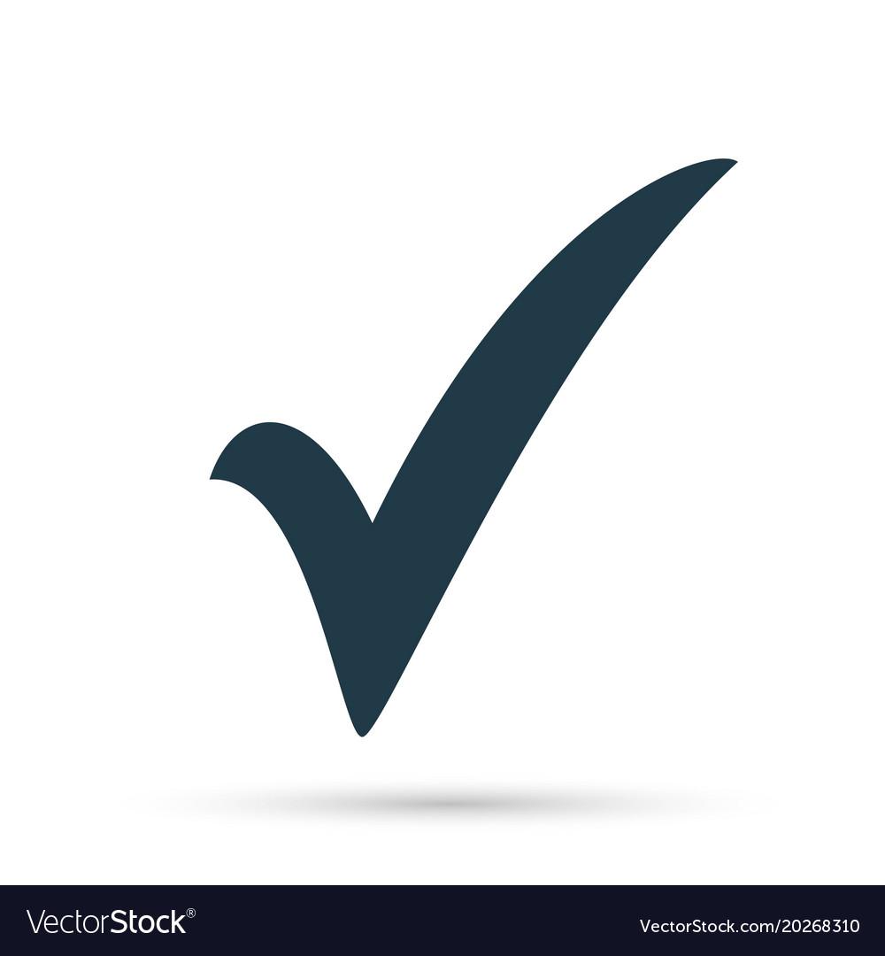 Check Mark Facebook Symbol - Tick icon symbol marker red