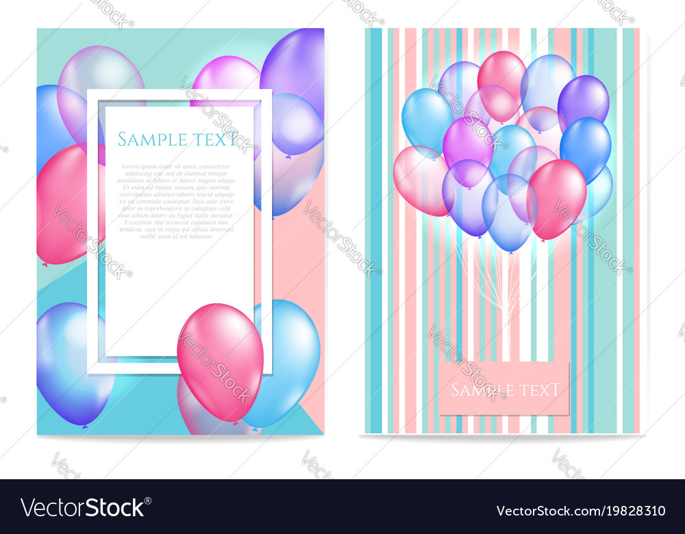 Bright balloon background