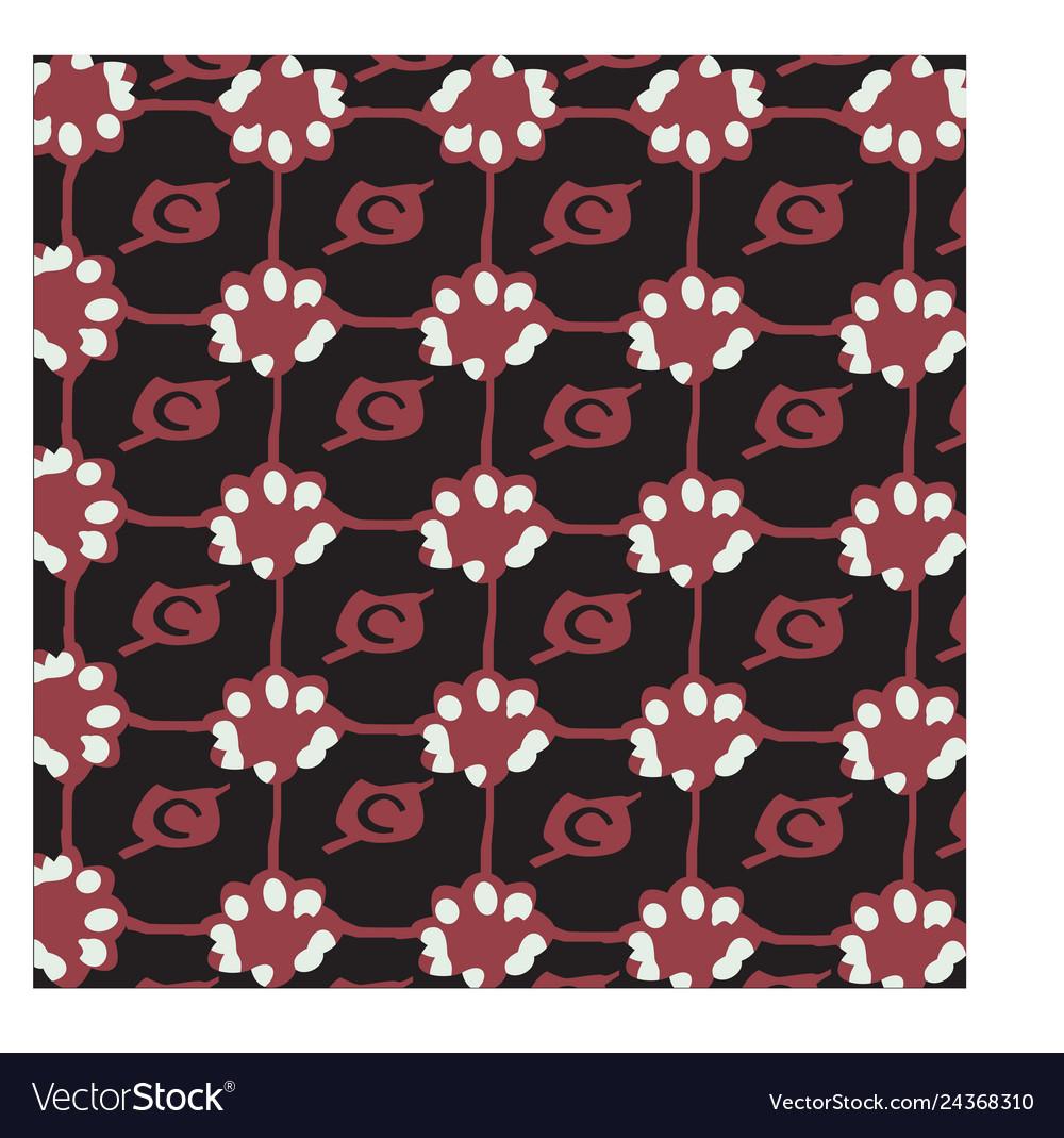 Brown flower batik background