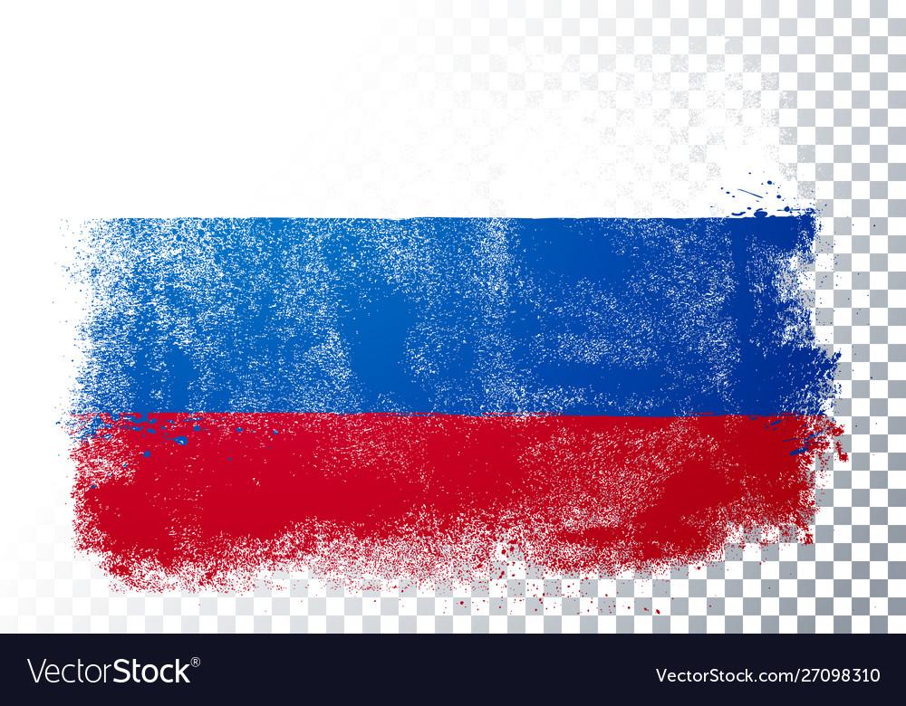 Distortion grunge flag russia