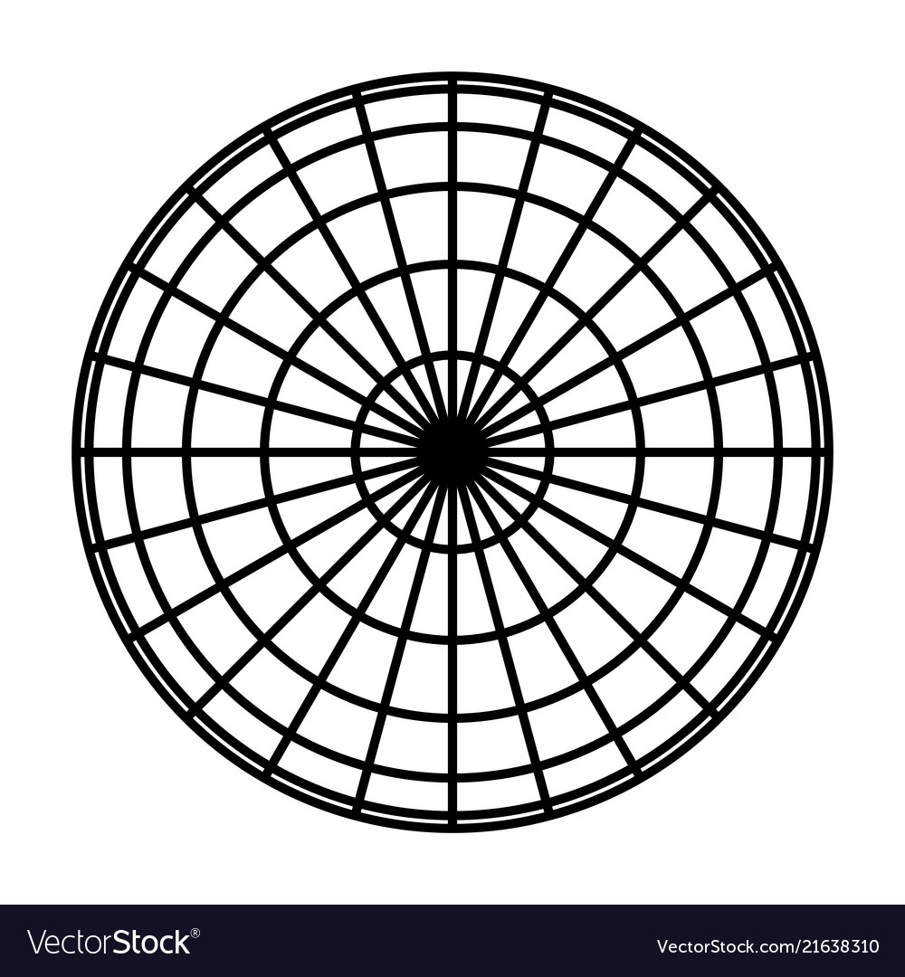 Earth planet globe grid of black thick meridians Vector Image