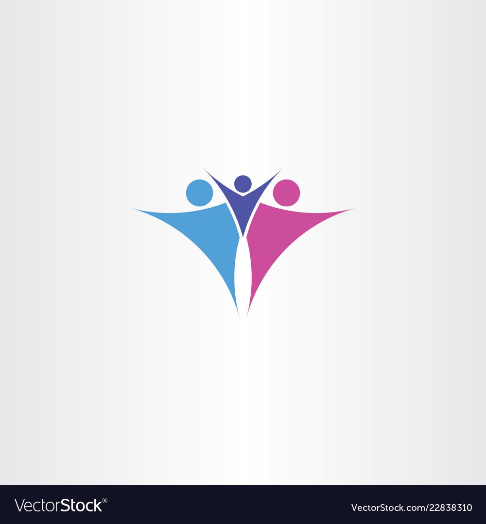 Family symbol logo sign icon element
