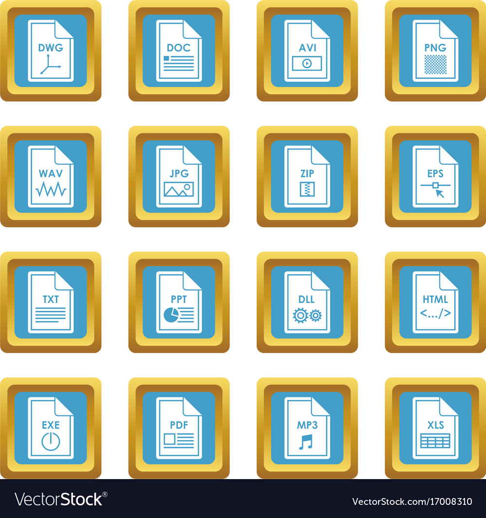 File format icons azure