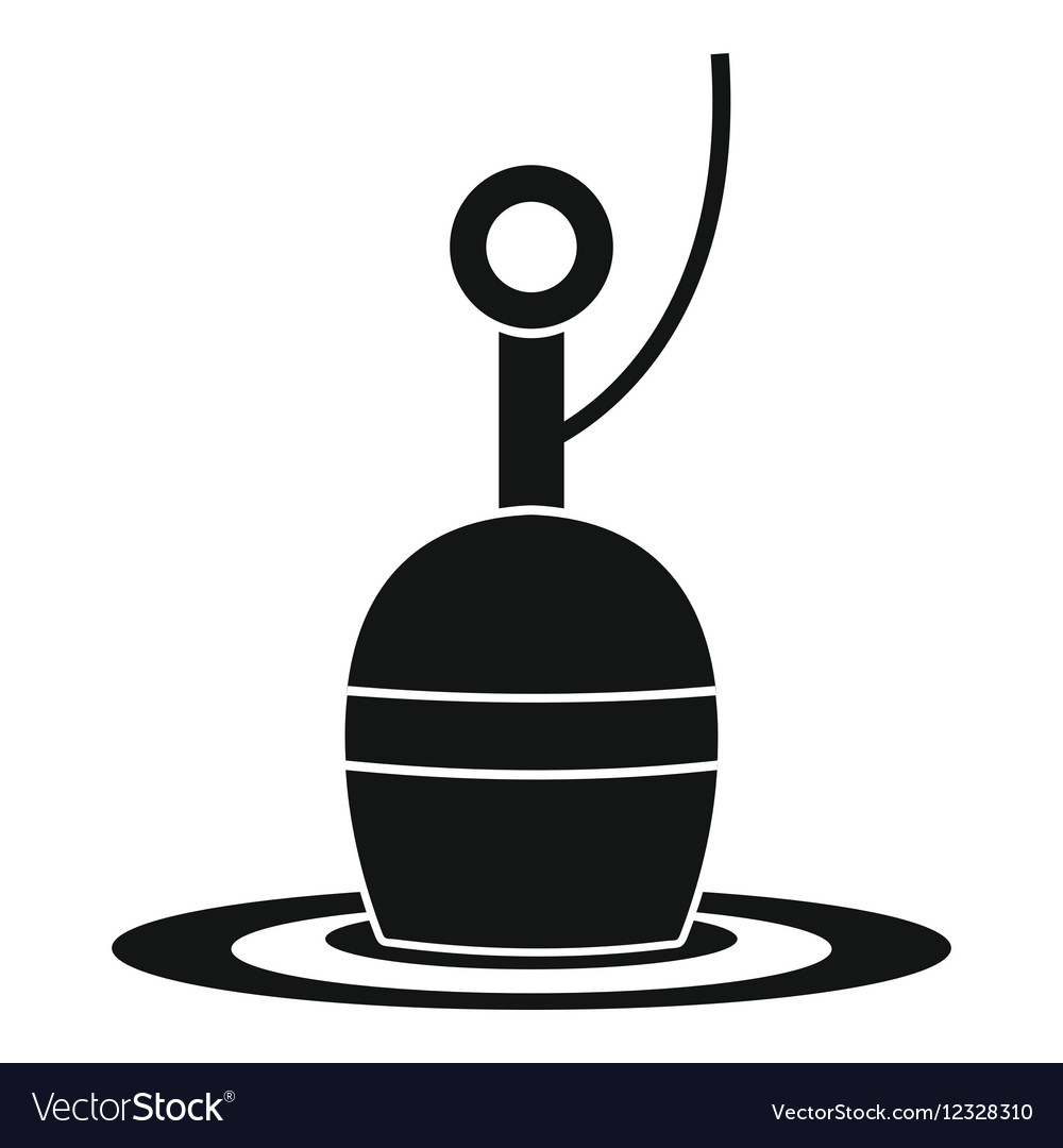 Floating bobber icon simple style vector image
