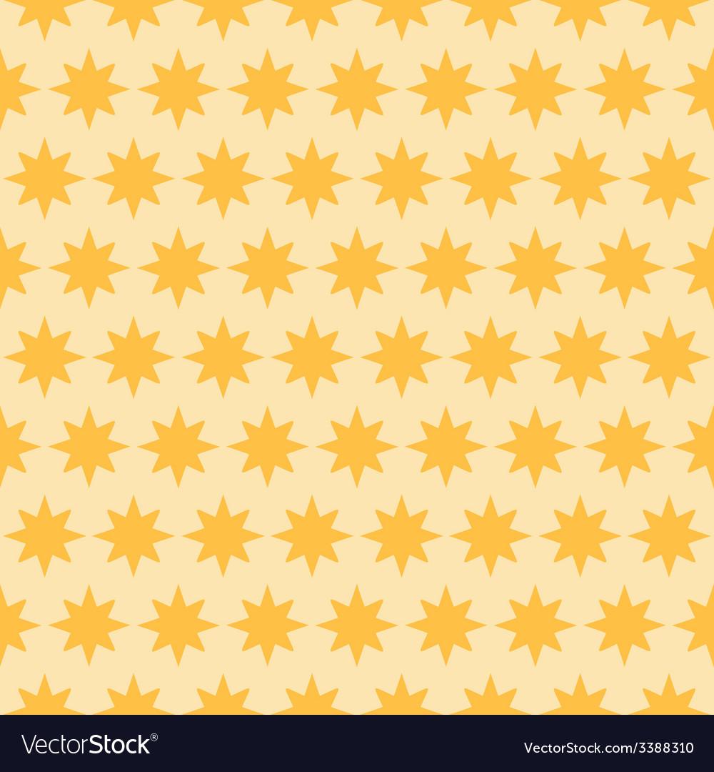 Holiday orange star seamless pattern