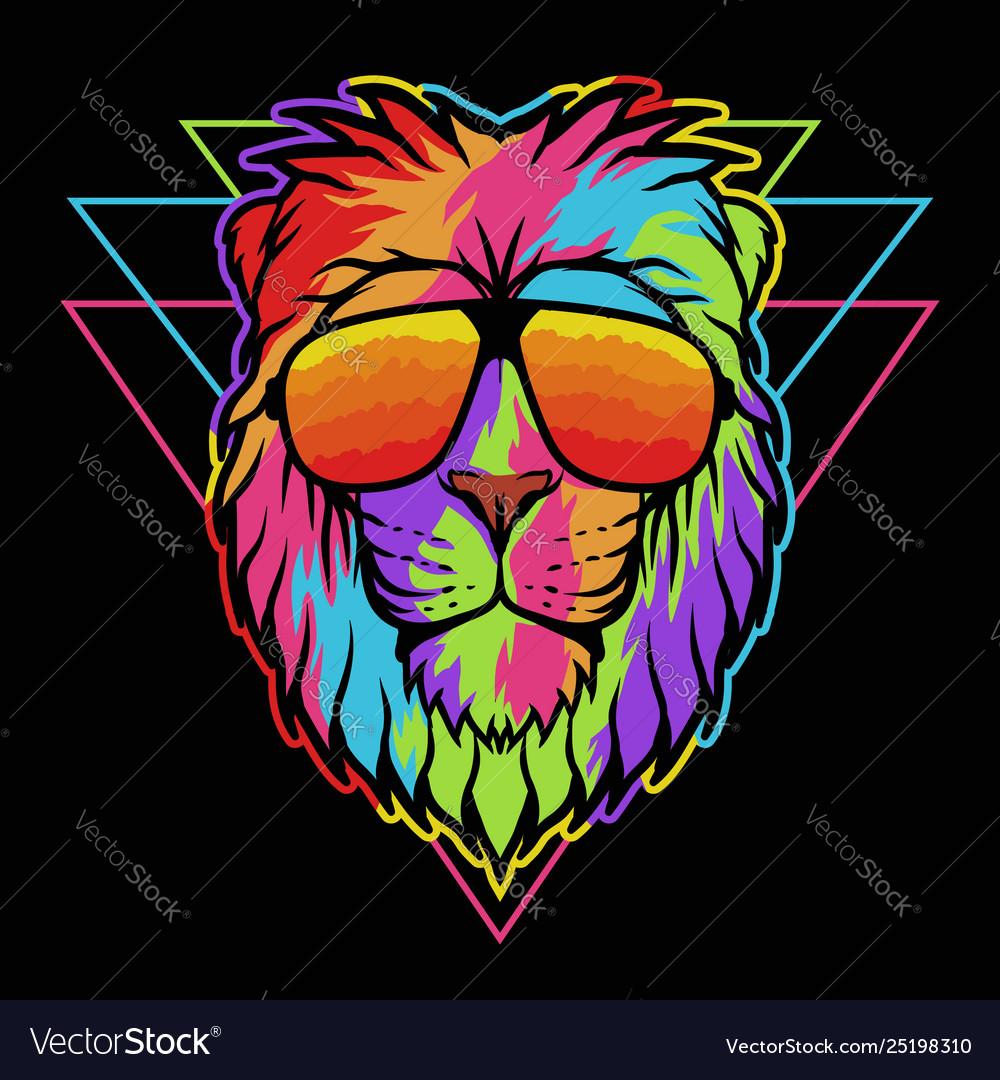 Lion eyeglasses colorful