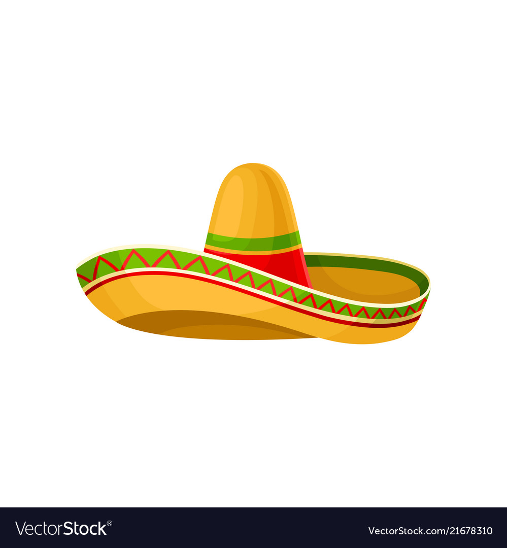 mexican sombrero hat on a royalty free vector image