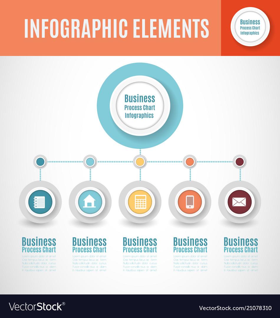 Process chart infographics