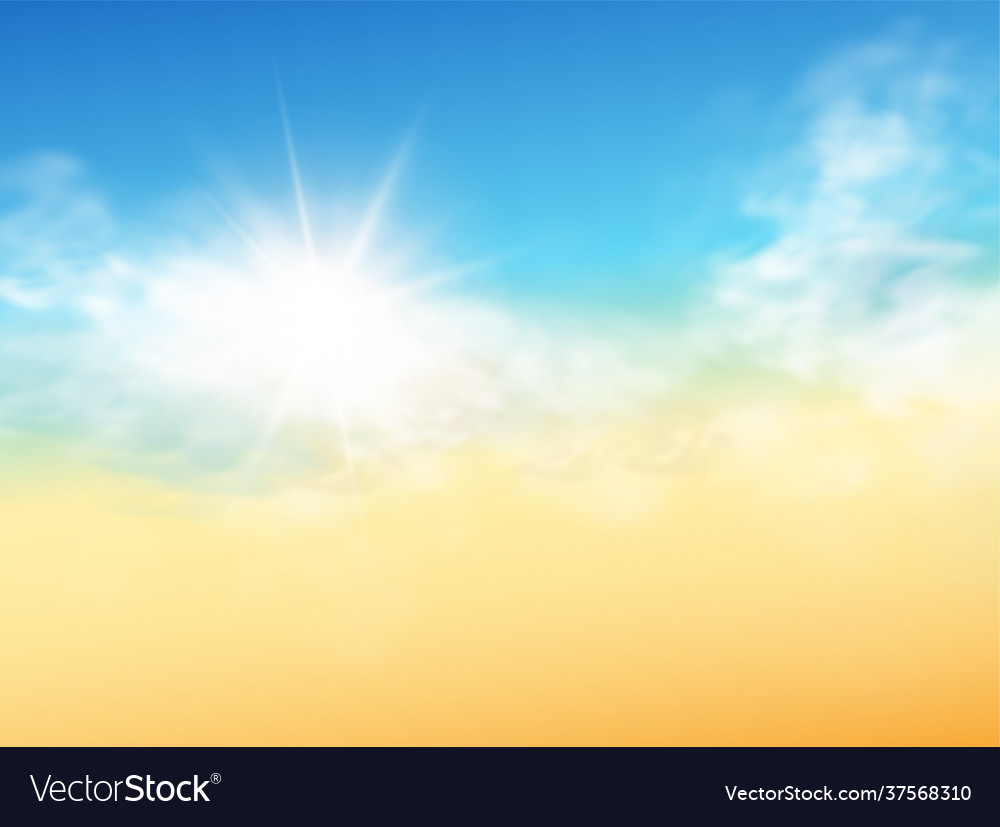 Realistic sky template with transparent cloud and