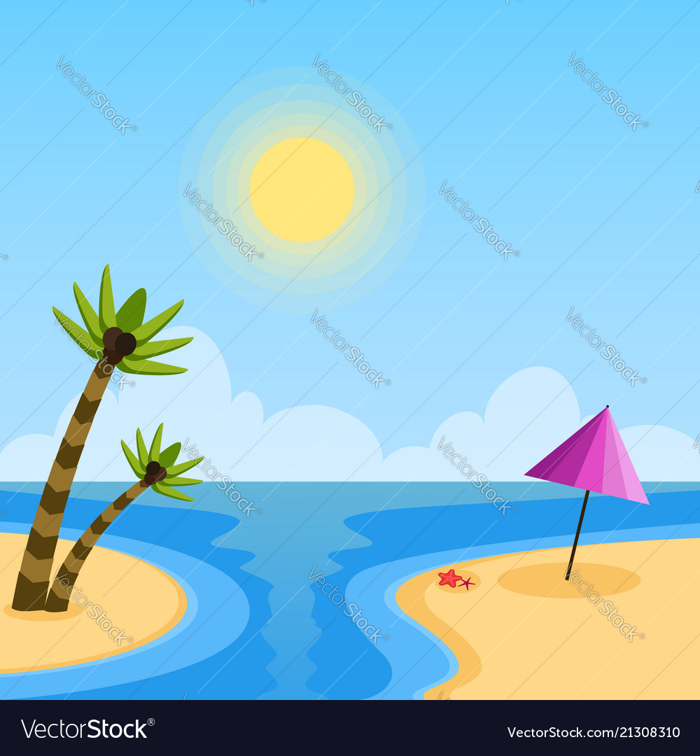 Summer holidays day flat background