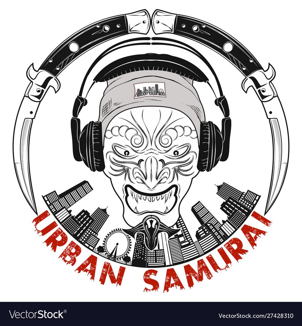 Urban Samurai 0005 Royalty Free Vector Image Vectorstock