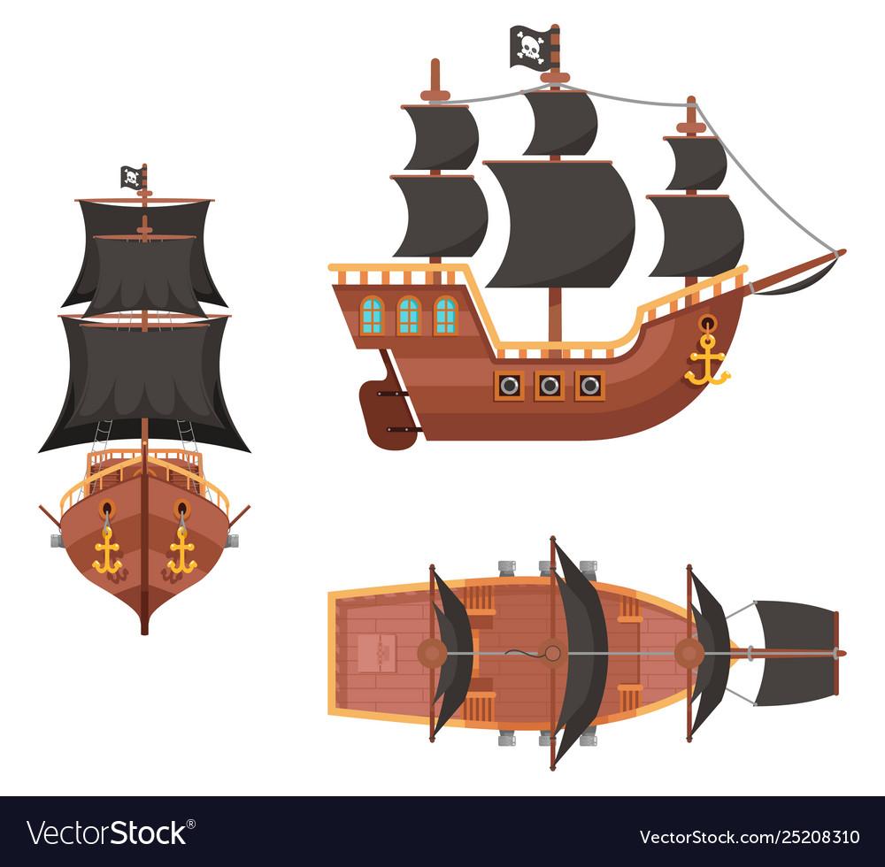 Wooden pirate buccaneer filibuster corsair sea dog