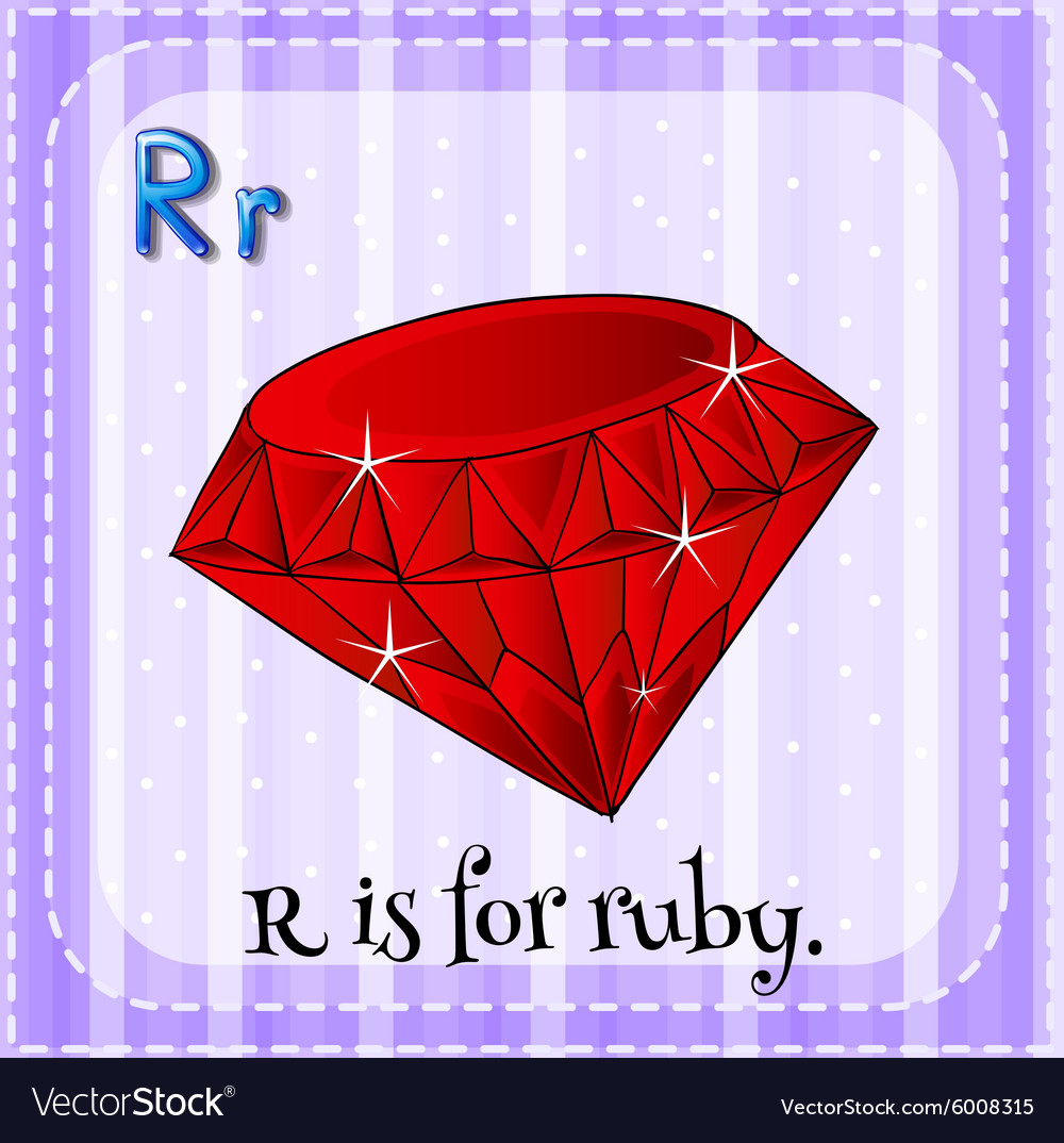 Alphabet R is for ruby