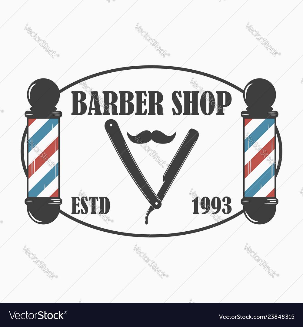 Barber shop logo hairdressing salon