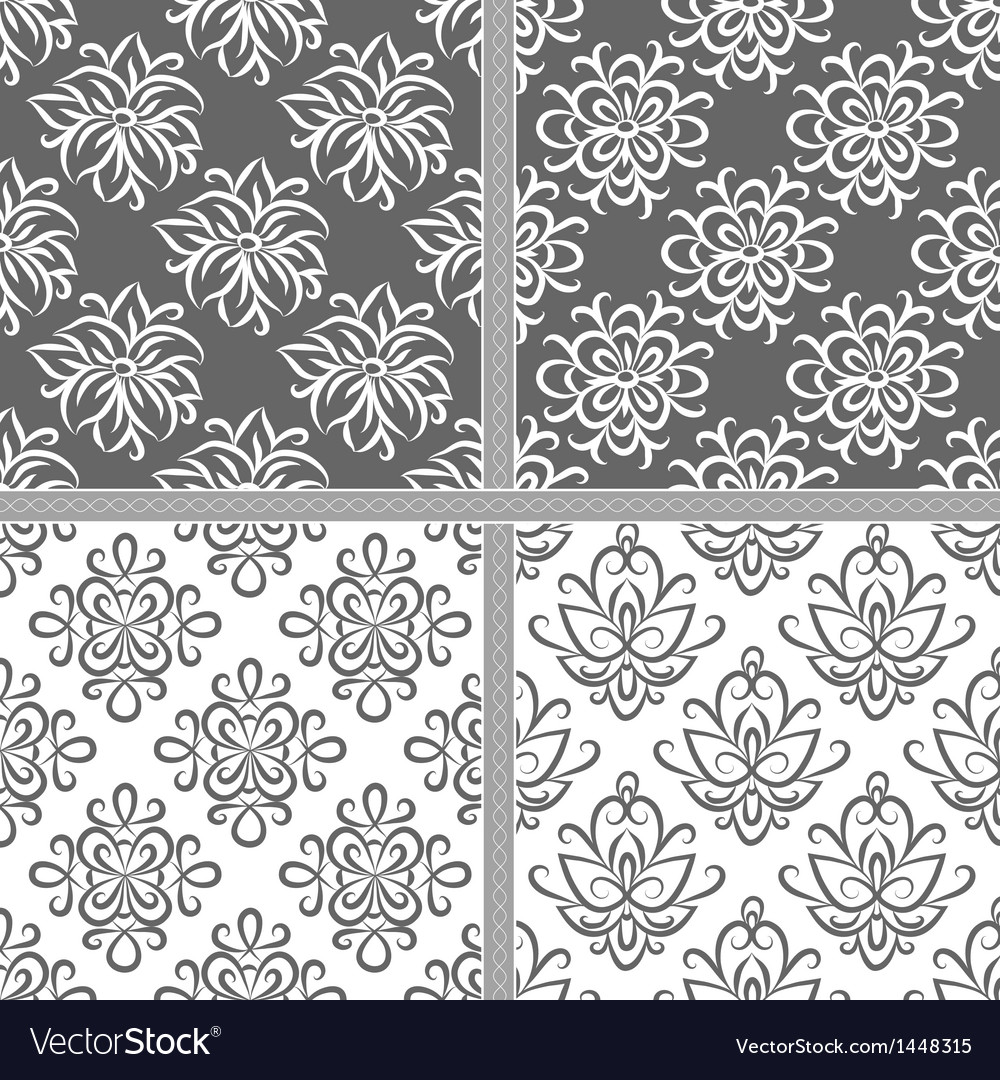 Black and white ethnic seamless pattern