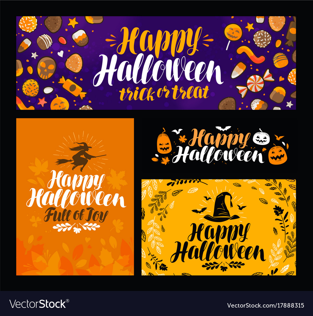 Halloween trick or treat banner holiday symbol