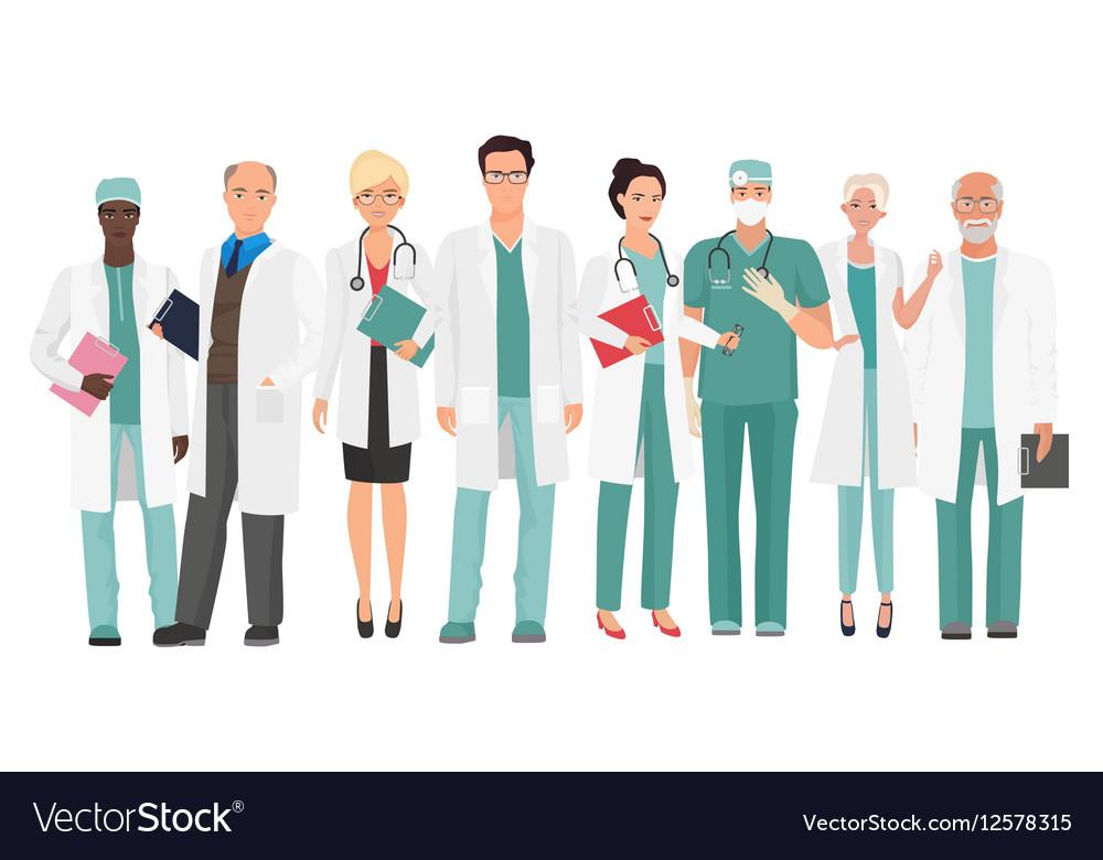 Hospital medical staff Team doctors together