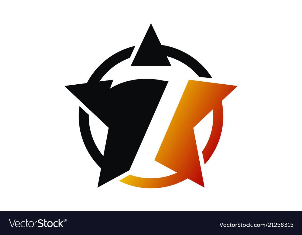 Seven star logo design template