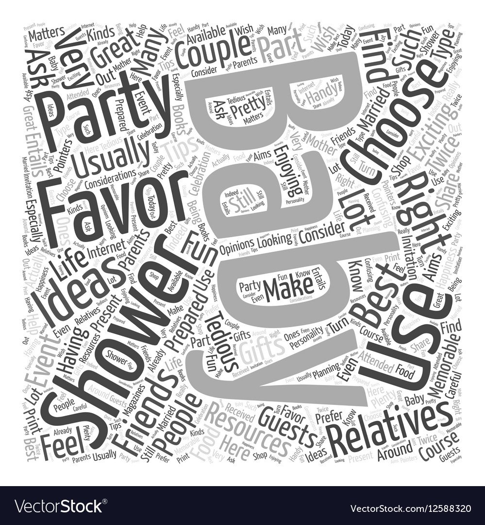 Baby shower favors Word Cloud Concept vector image
