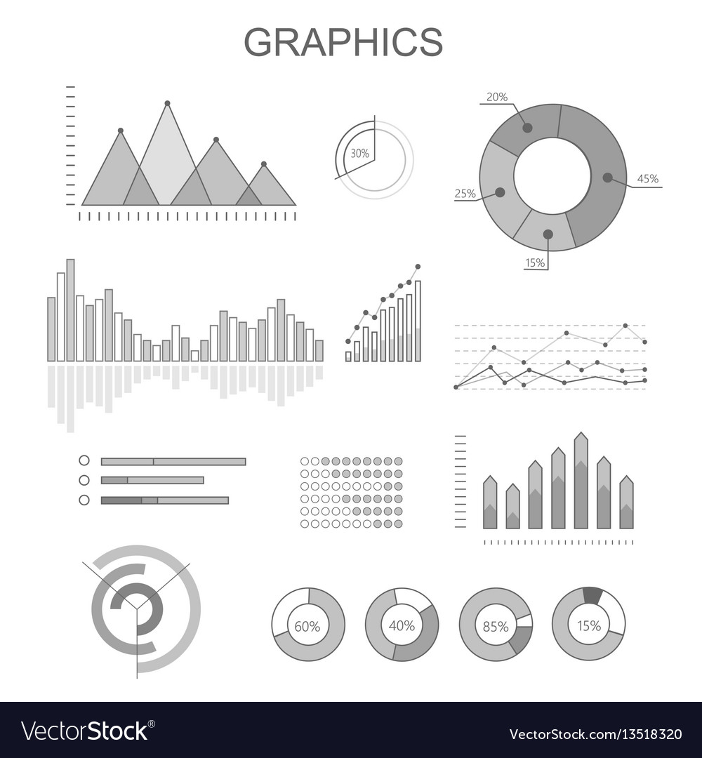 Black and white graphics poster with diagrams