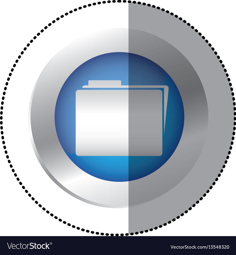 Blue symbol file icon