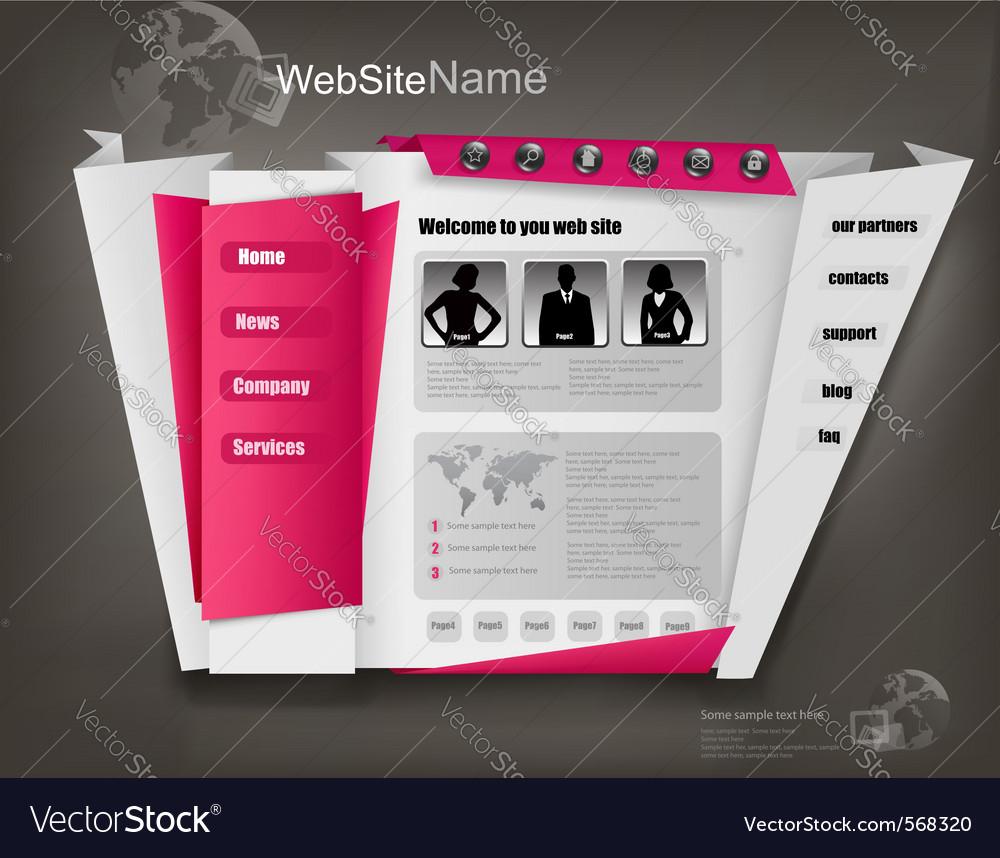 Business website design template vector image