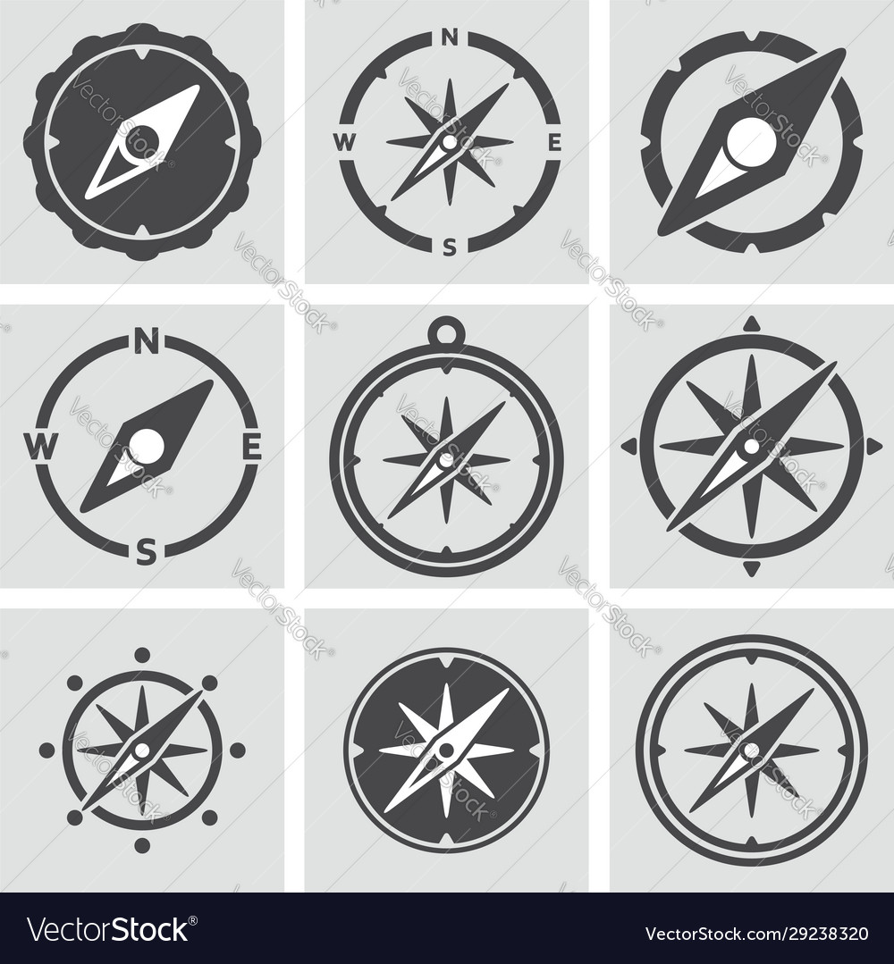 Collection compass icons