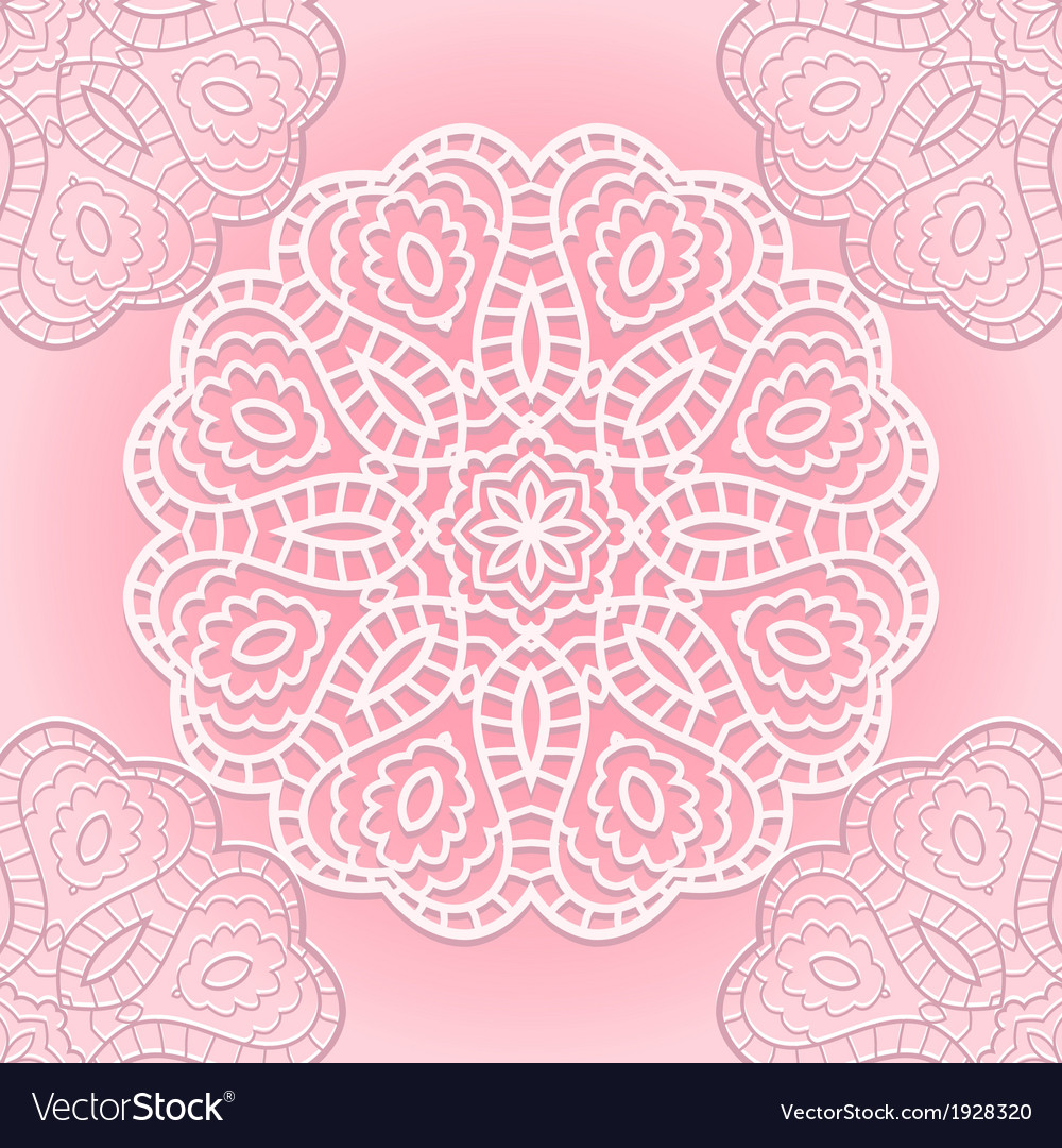 Delicate lace seamless pattern