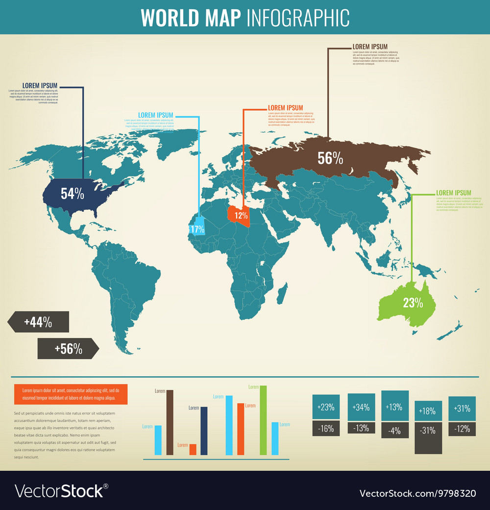 Detail infographic World Map and Information