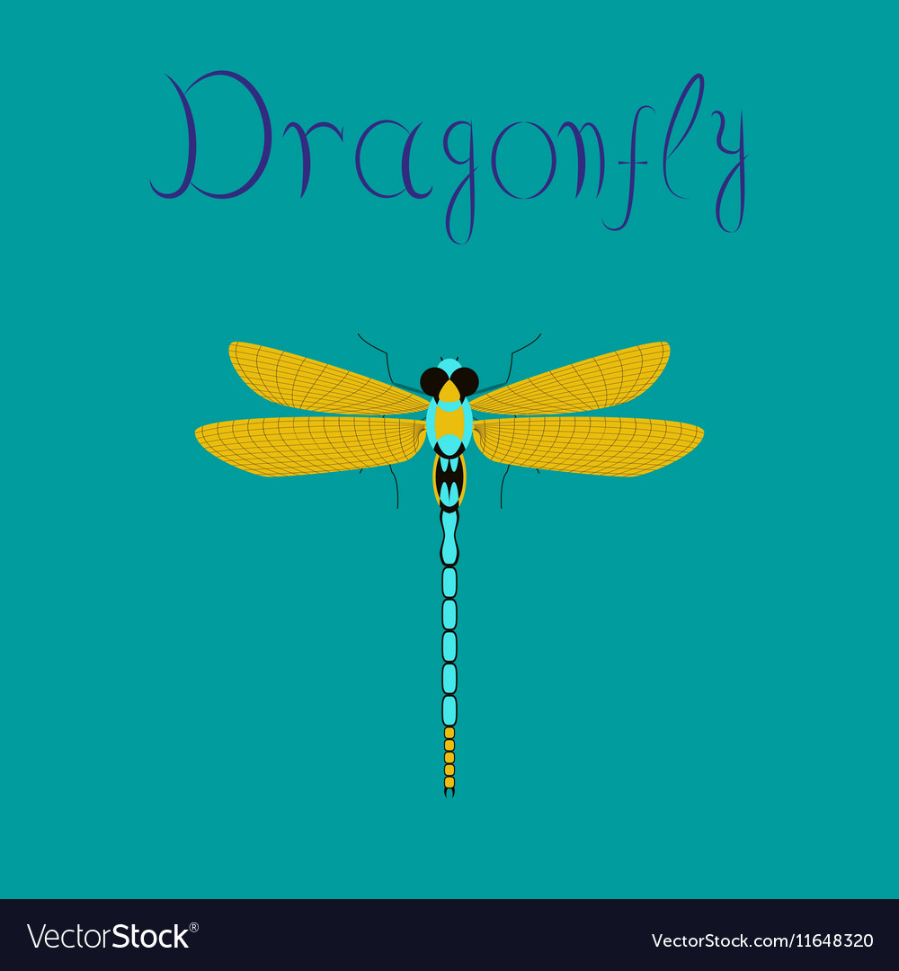 dragonfly hand drawn logo design concept template