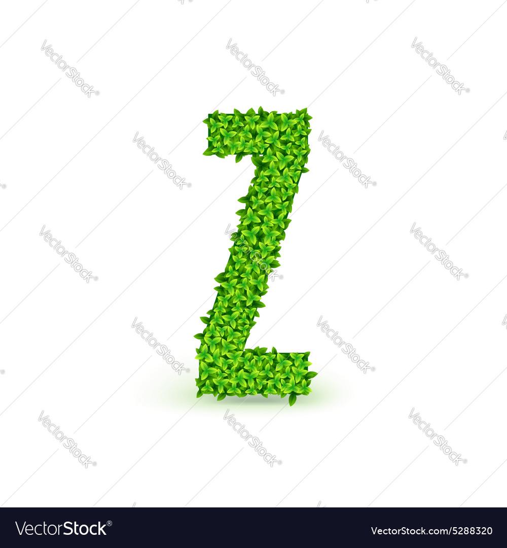 Green Leaves font Z