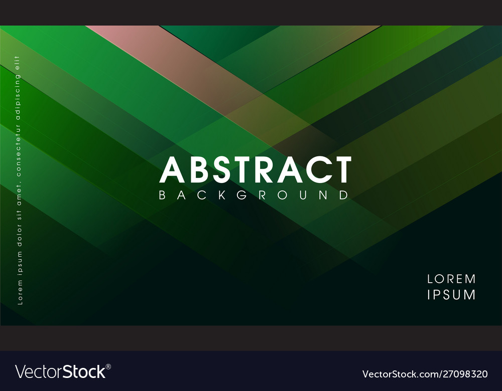 Modern abstract green geometrical background