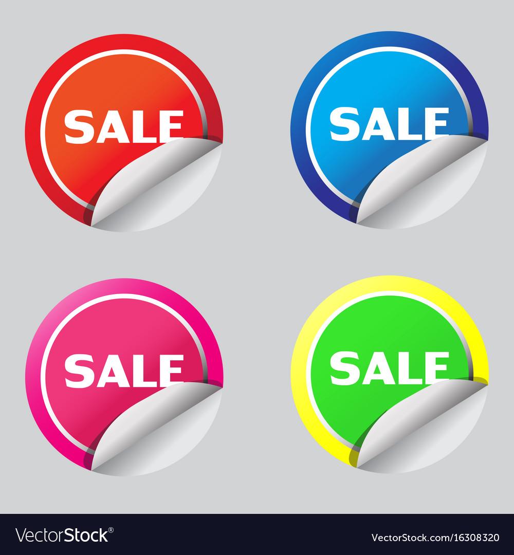 Sale sticker icon design