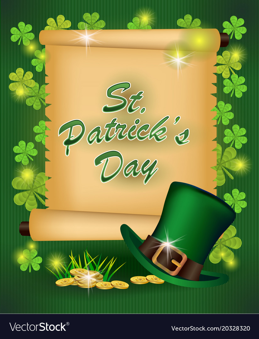 St Patricks Day Greeting Royalty Free Vector Image