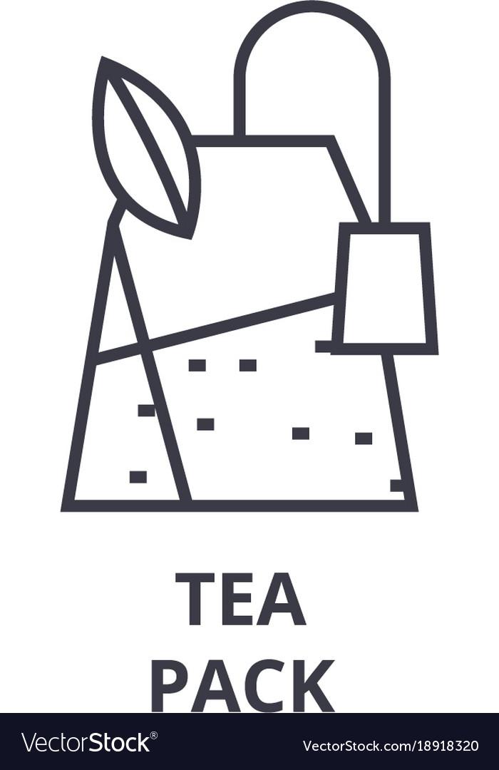 Tea pack line icon outline sign linear symbol