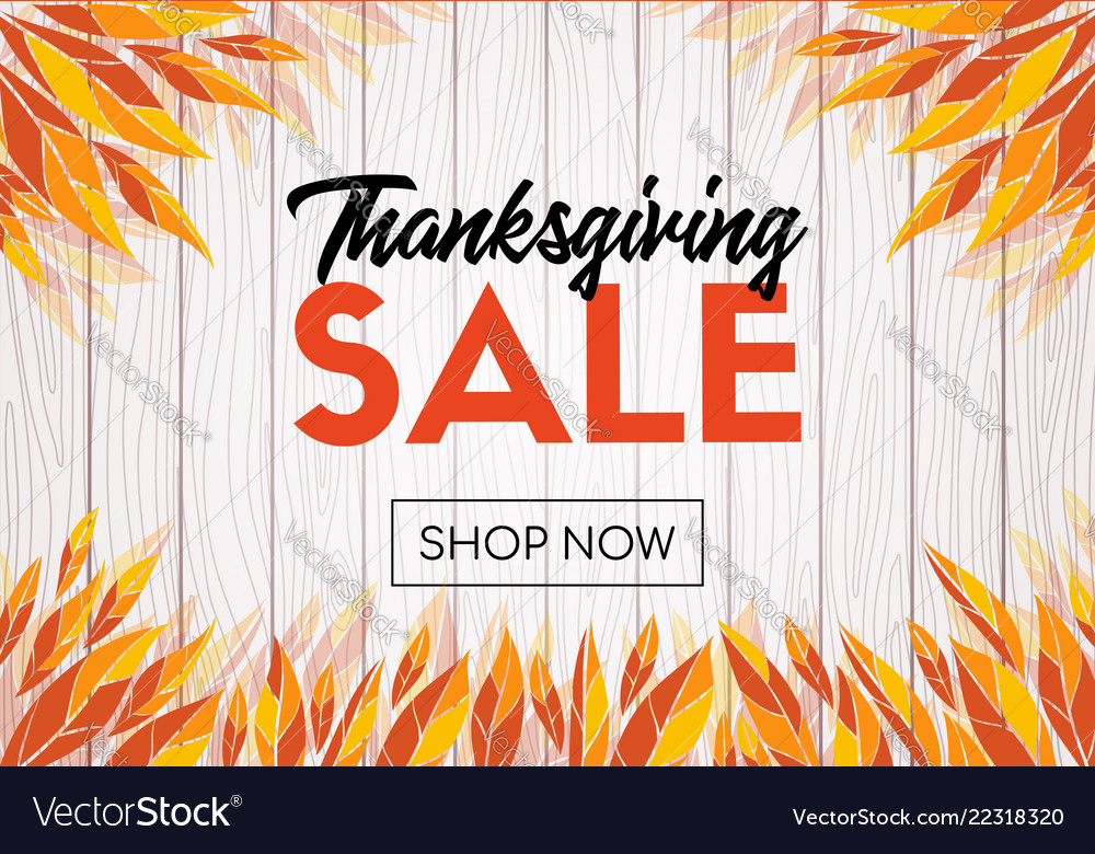Thanksgiving sale template design shop now banner