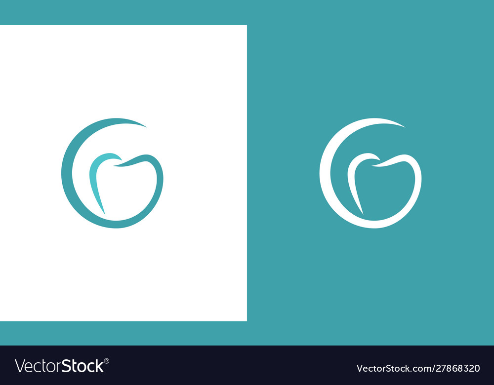 Tooth letter g logo