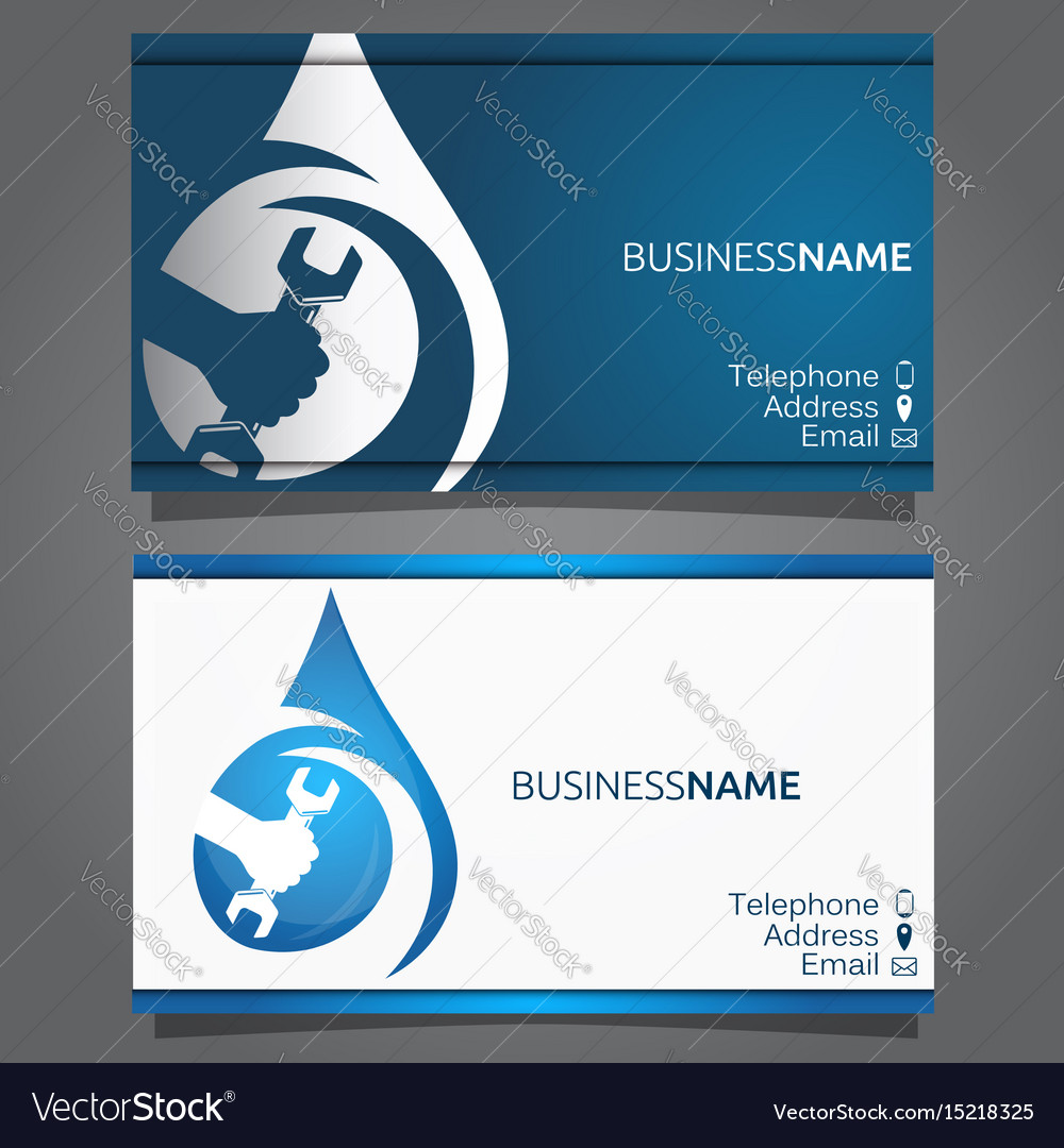 Business card for repair of plumbing and sanitary Vector Image