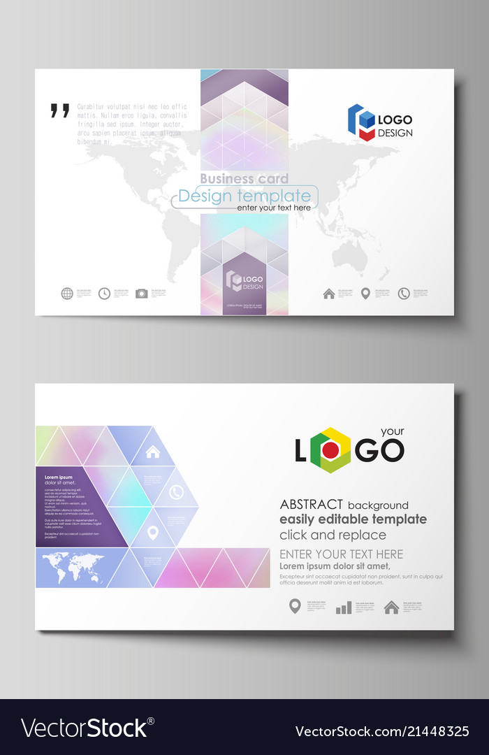 Business card templates easy editable layout vector image cheaphphosting Choice Image