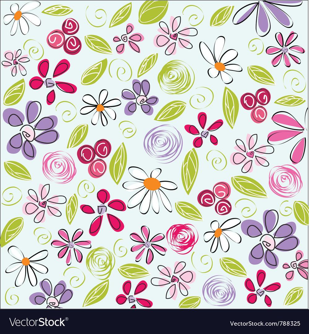 Floral background easter