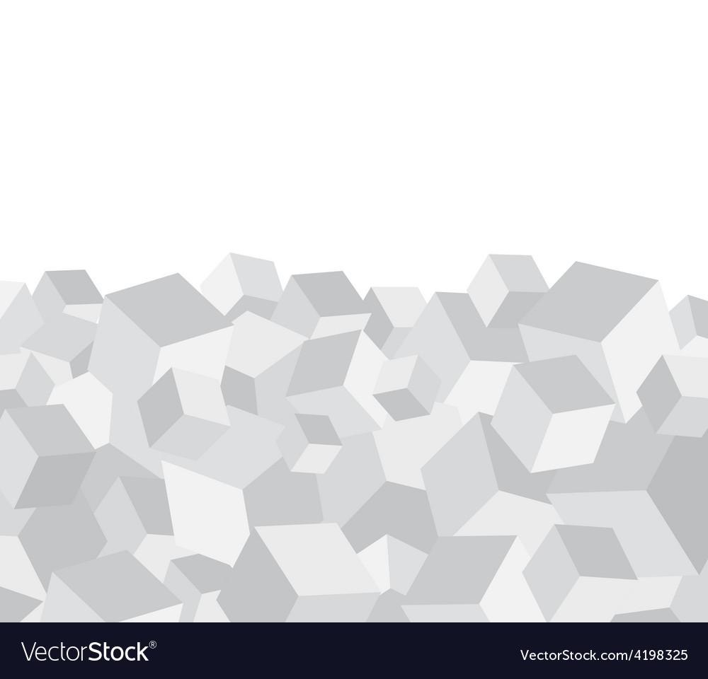 Grey cube background