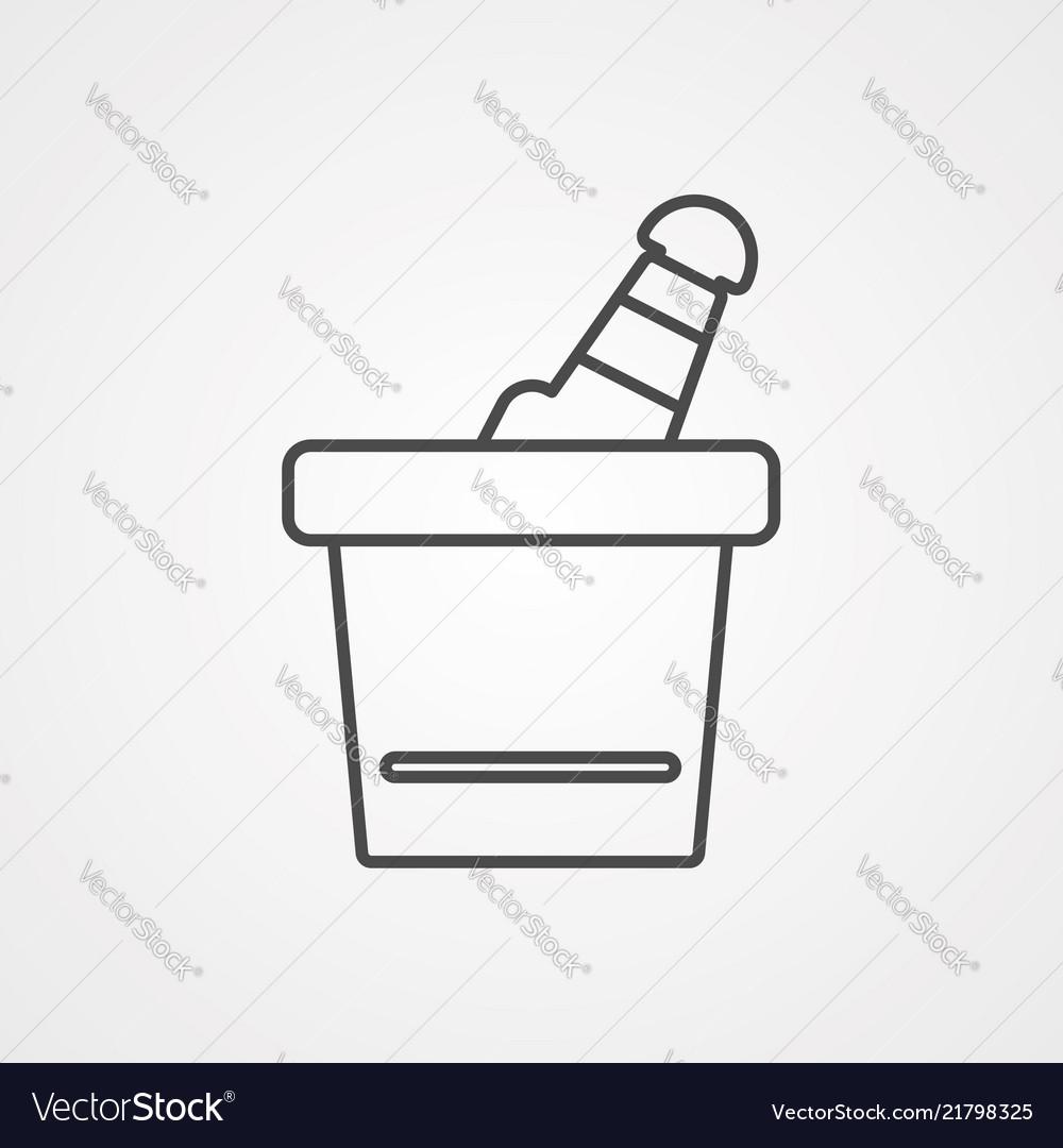 Ice bucket icon sign symbol