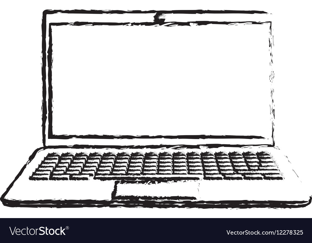 Laptop computer technology vector image