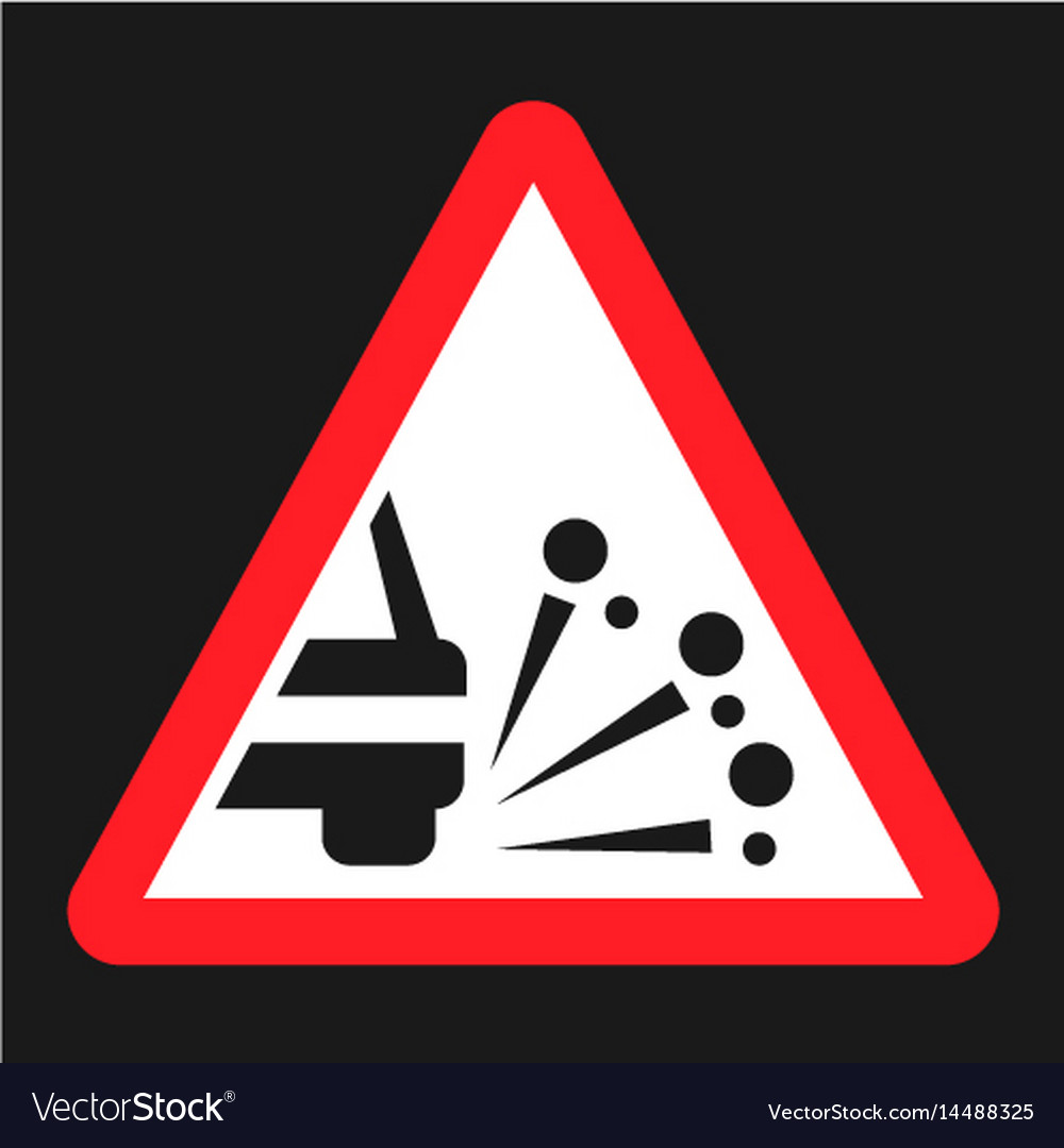 Loose chippings and gravel flat icon