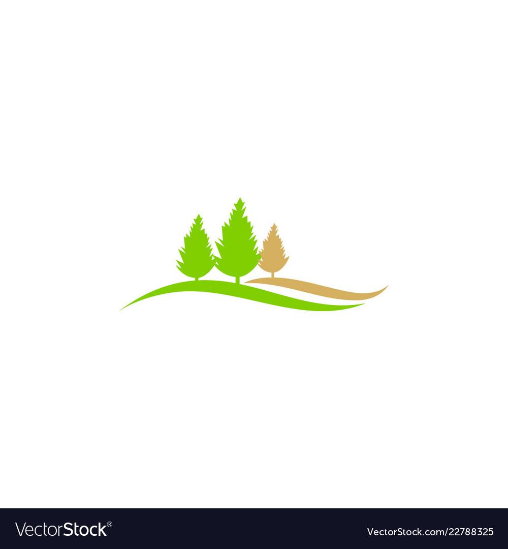 Pine tree nature landscape ecology logo