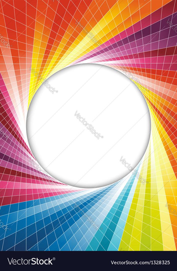 Rainbow spring background - circle