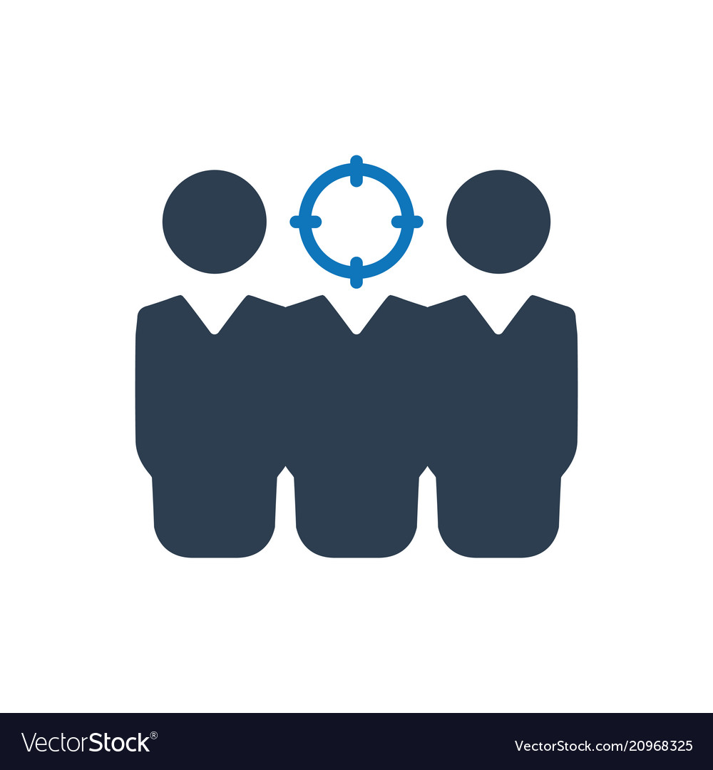 Target Human Resources Icon Royalty Free Vector Image