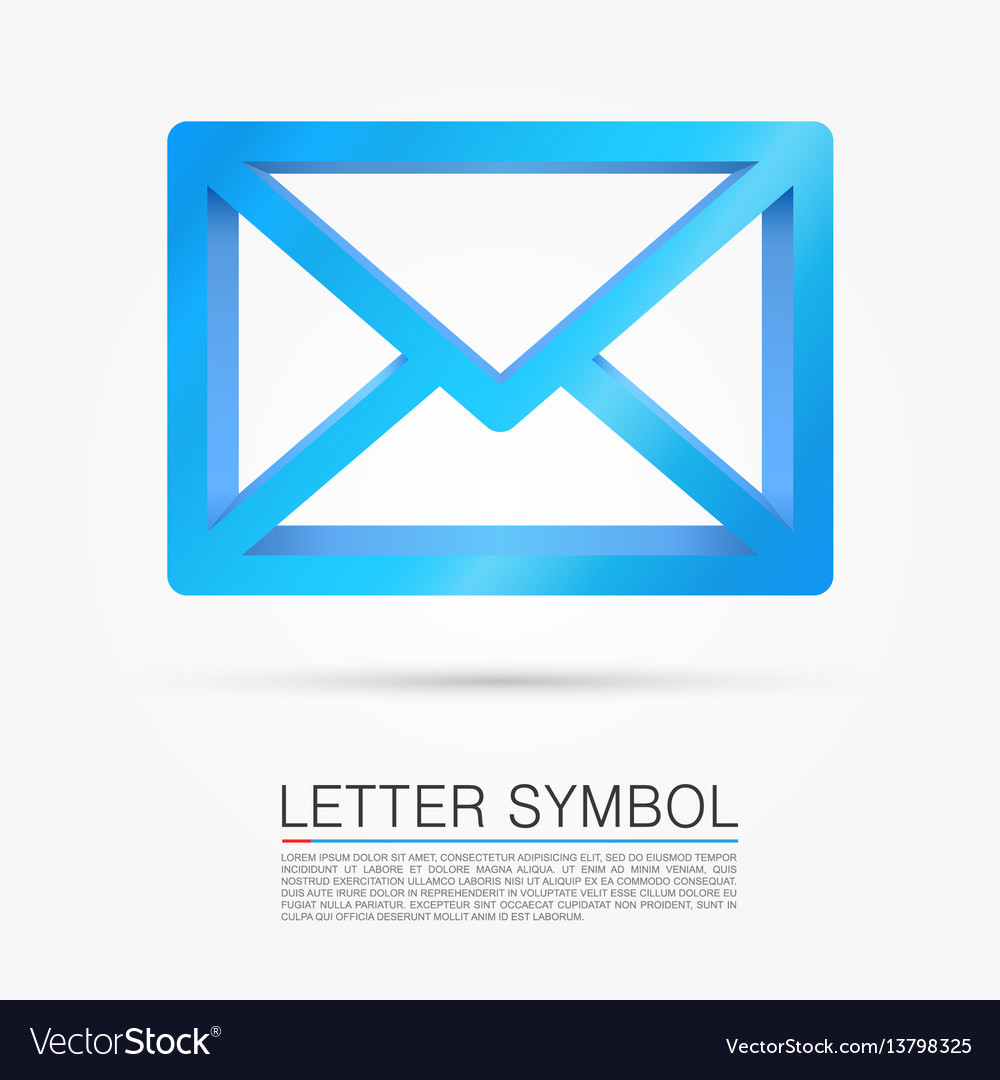 Volume letter symbol