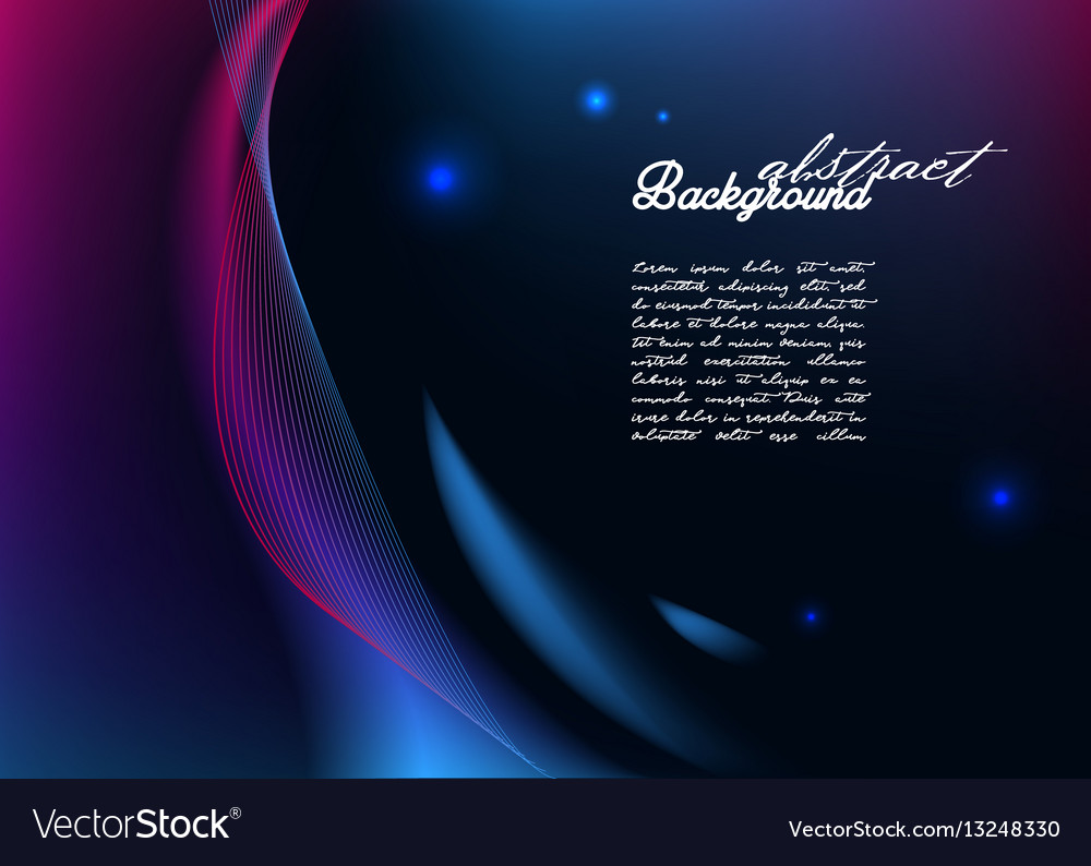 Abstract background with modern glowing lines vector image