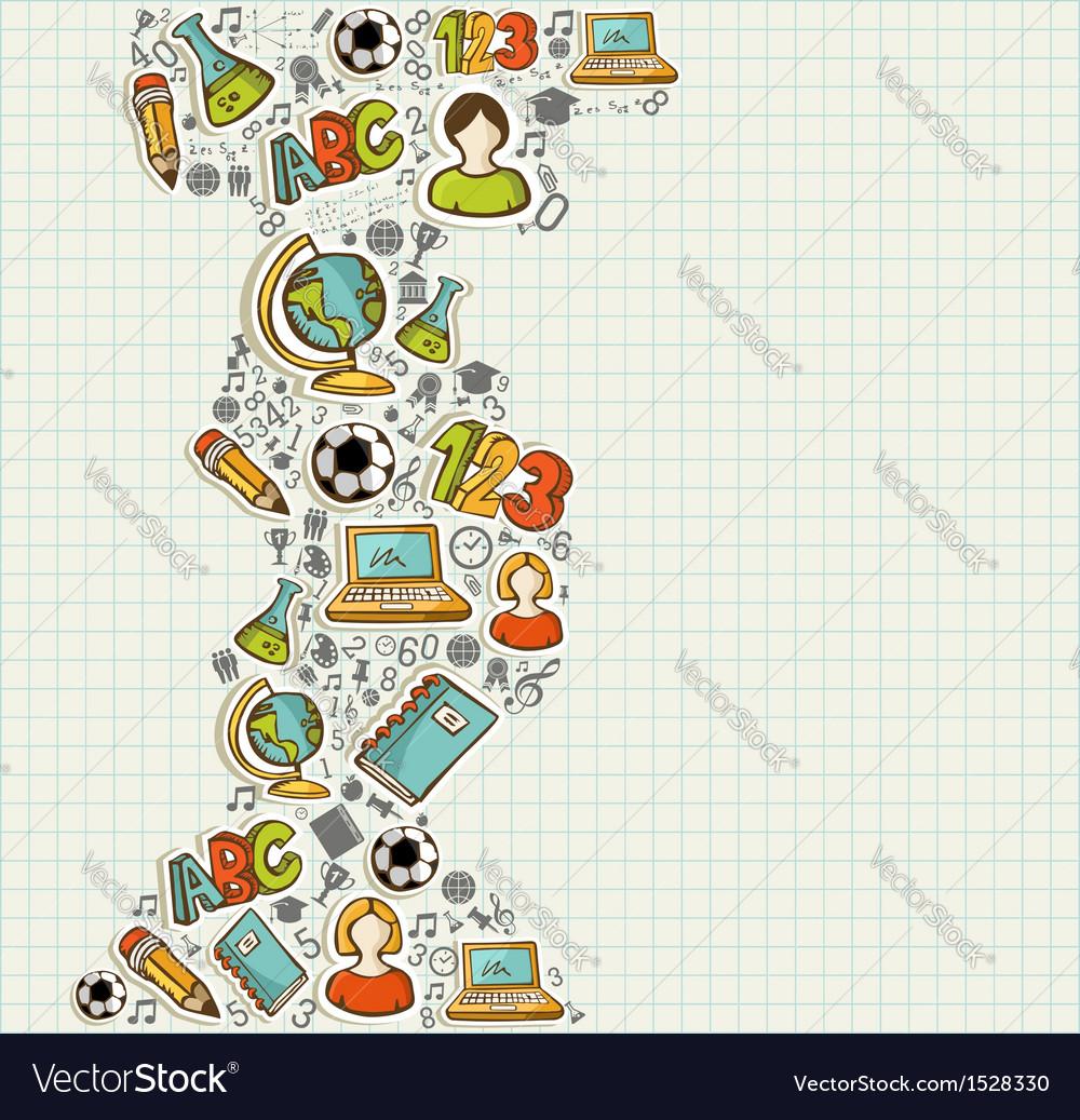 Back to School education cartoon icons
